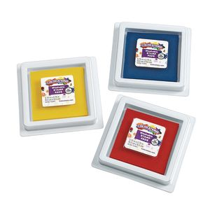 Colorations® Stamp Pads, 3.5 IN SQ,3 CLRS