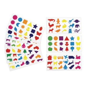 Colorations Fun Stickers, 12 Sheets, 201 Total Stickers