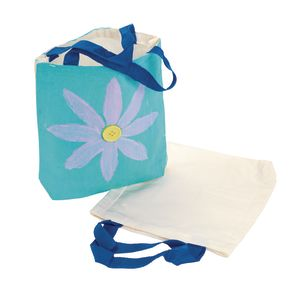 Colorations Decorate Your Own Canvas Tote Bag