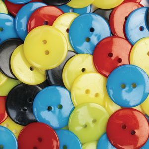 Colorations Craft Buttons, Set of 100
