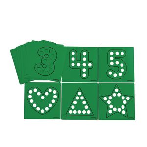 Dabber Dot Stencil Set Letters & Numbers, 20 Piece Stencil Set
