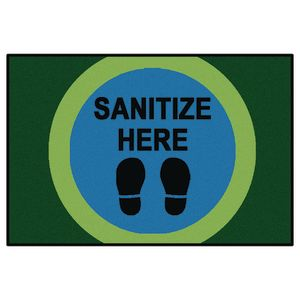Sanitize Here Dot Rug, 4' x 6'