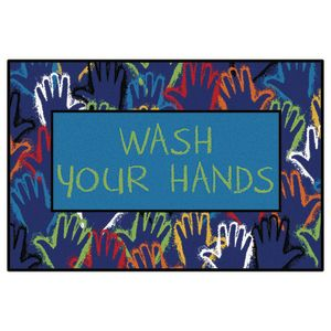 Wash Your Hands Rug, 4' x 6'