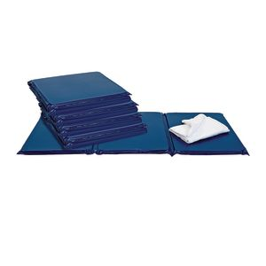 "1"" Best Value Tri- Fold Rest Mat - Blue, Set of 5"