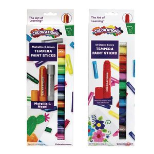 Colorations Tempera Paint Sticks, Set of 24