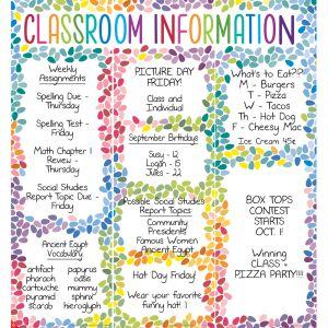 Classroom Information Center Jumbo Poster