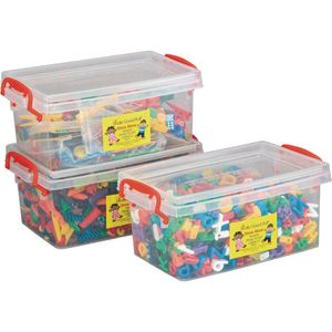 Stackable Storage Tubs With Locking Lids, Medium