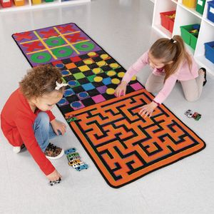 Indoor Recess Rug With Manipulatives