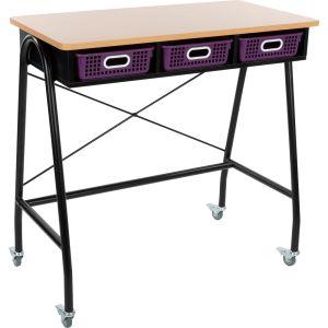 Teacher Standing Desk With Baskets - Royal Purple