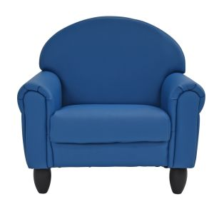 Upholstered Chair, Slate Blue