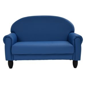 Upholstered Sofa, Slate Blue