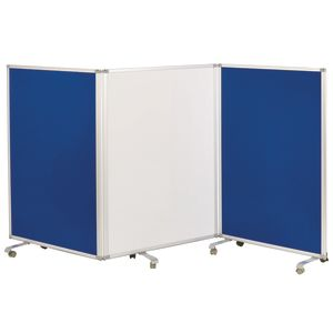 Mobile Room Divider with Dry Erase and Flannel Panels