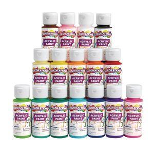 Colorations Acrylic Paint Set, 16 Colors, each 2oz