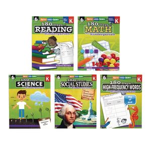 180 Days for Kindergarten, 5-Book Set