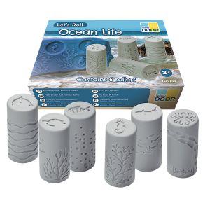 6 Stamper Rollers - Ocean Life - 24 Different Stampers