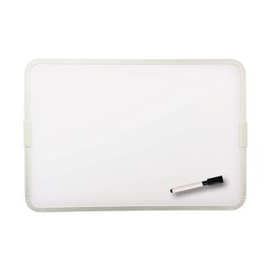 "9"" x 12"" Two-Sided Framed Magnetic Dry Erase Board with Marker"