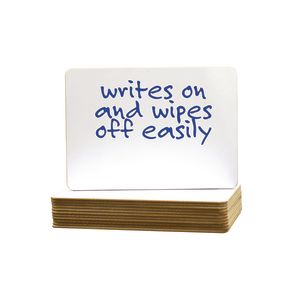 """6"""" x 9"""" Two-Sided Dry Erase Board - Set of 12"""