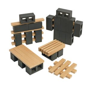 Excellerations® Mini Blocks and Planks Tabletop Building Set - 40 pieces