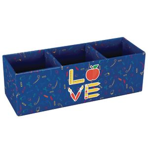 Love of Teaching - 3-Section Desk Organizer