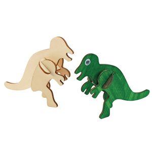 Colorations 3D Wooden Dinosaur Puzzles, 3 Sets
