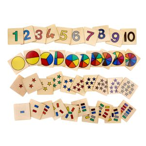 From 1 to 10 - Subtilizing Skills Activity with 40 Wooden Cards