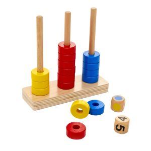 Stack the Rings - Counting & Sorting Game