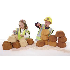 Role Play Stone Foam Building Bricks, 25 Pack