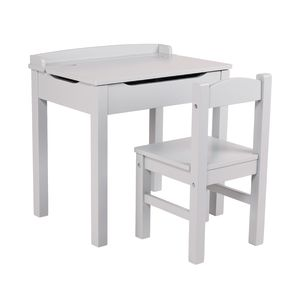 Lift-Top Desk with Chair - Gray