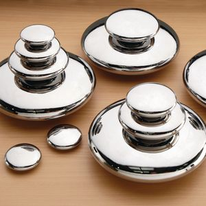 Mirrored Stacking Pebbles Silver 20pk