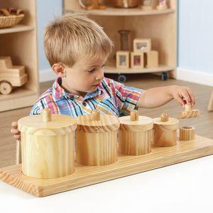 Wooden Toddler Sorting Pots