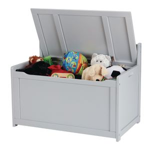 Wood Toy Chest - Gray