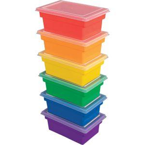 All-Purpose Bins & Lids - Set of 6 - 6 Colors