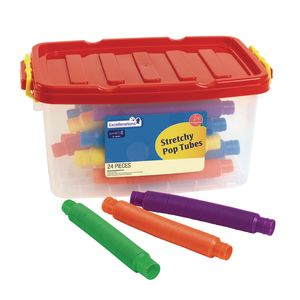 Excellerations® Stretchy Pop Tubes - 24 Pieces