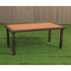 Excellerations® Outdoor Wicker Dining Table