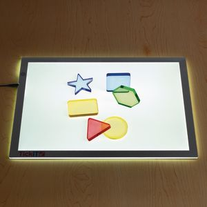 Environments® earlySTEM™ Translucent Light Table Shapes - Set of 6