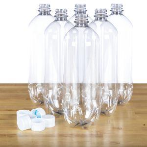 Steve Spangler Six 1 Liter (32 Oz) Bottles & Caps