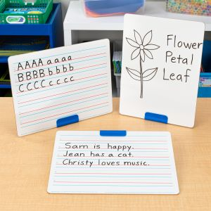 Really Good Stuff® Slant and Stand Whiteboard Kit - 6 stands, 6 boards