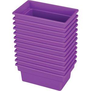 Small All-Purpose Bin ? Set of 12 - Single Color Purple