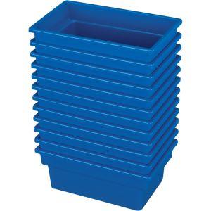 Small All-Purpose Bin ? Set of 12 - Single Color Blue