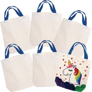 Colorations Decorate Your Own Canvas Bags, 6 BAGS