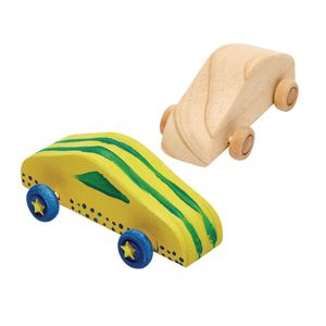 Colorations Decorate Your Own Wood Car, 6 CARS