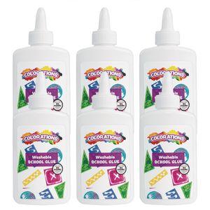 Colorations® White School Glue EA 4OZ, 6 PCS
