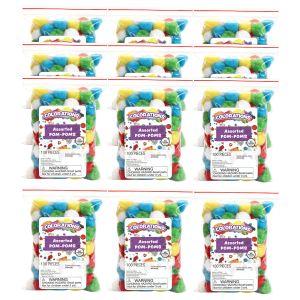 Colorations® POM POMS EA 100 PC, 12 Sets