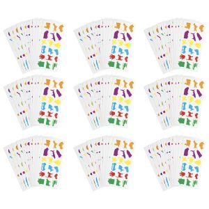 Colorations® Familiar Stickers, 12 Sheet EA, Set of 12