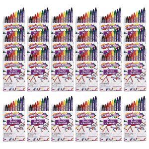 Colorations Regular Crayons, 8 Colors, 24 Sets, TTL 192 Crayons