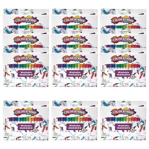 Colorations Markers 16 Colors , 12 Sets, Total 192