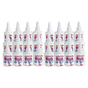 Colorations White School Glue, 1.25 oz., 24 Sets, Each Set Individually Packaged, Personalize & Decorate for Gifts, Arts & Craft Craft for ...