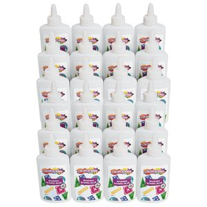 Colorations White School Glue, 4OZ, 12 bottles per Set. 2 Sets. 24 Bottles total
