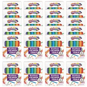 Colorations Chalk, 12 Colors per Pack, 24 Packs Included