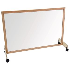 Clear Room Divider with Casters